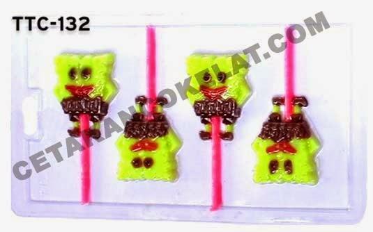 TTC132 Cetakan coklat Spongebob