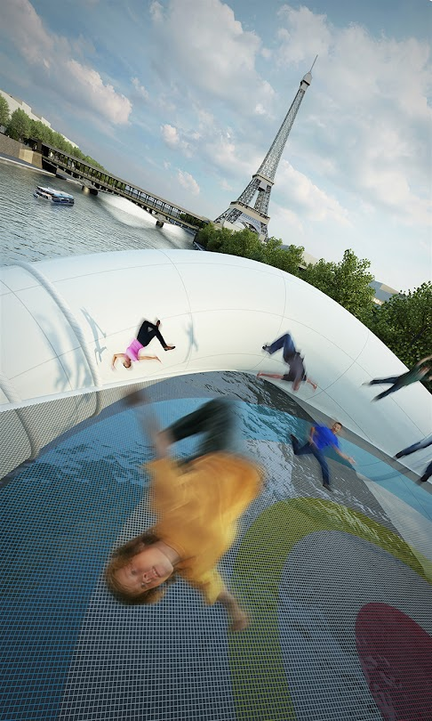 *AZC新構思 巴黎「彈簧橋」:彈著過塞納河! 4