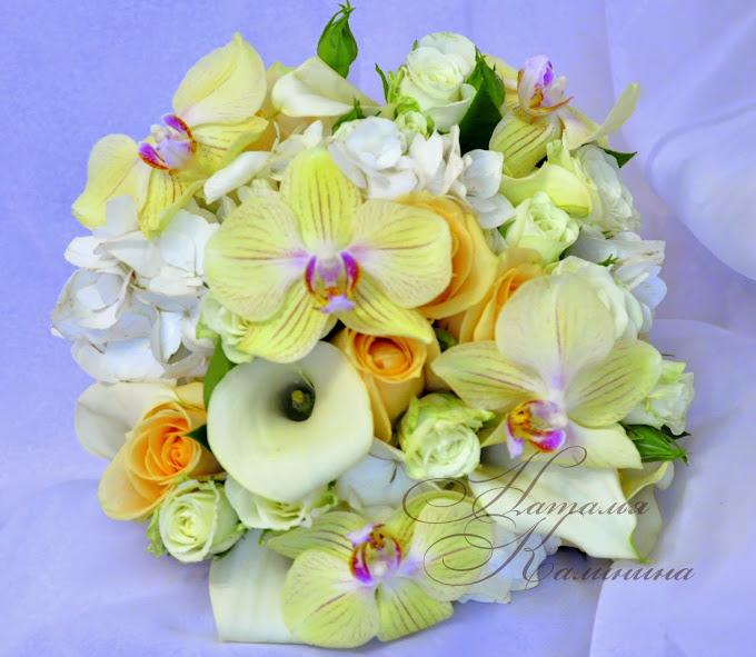 Казань,букет невесты,оформление свадьбы,орхидеи в букете невесты