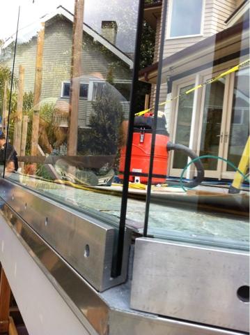 Installation Progress Photos Glass Deck Railing With Base