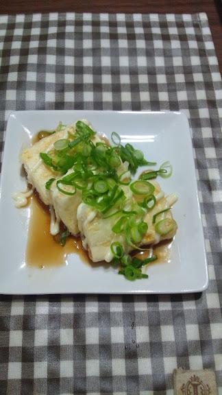 豆腐の照りマヨ焼き