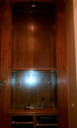 Cabinet refinish job we have on a big entertainment center.