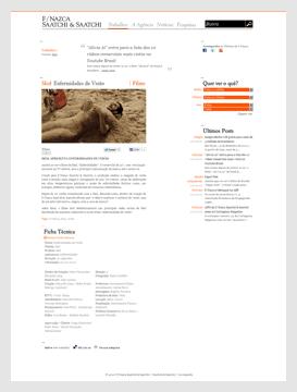 """Artigo sobre o comercial no site da """"F/Nazca Saatchi & Saatchi""""."""