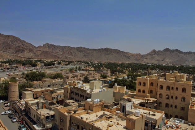 Bird's eye view of Nizwa town, Oman