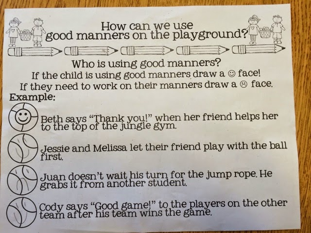 Manners on the Playground Way To Be Manners