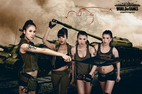 Siêu mẫu Thái Hà gợi cảm trong bộ ảnh World of Tanks 11