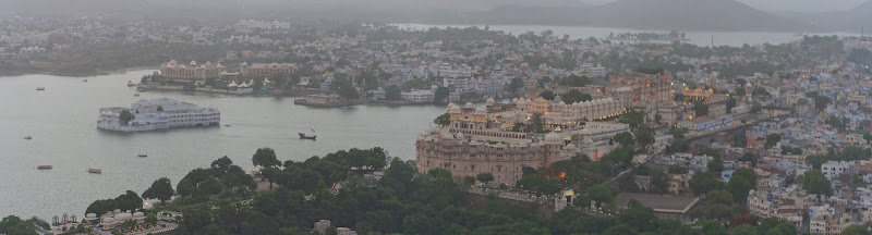 Udaipur desde el Sunset Point, India