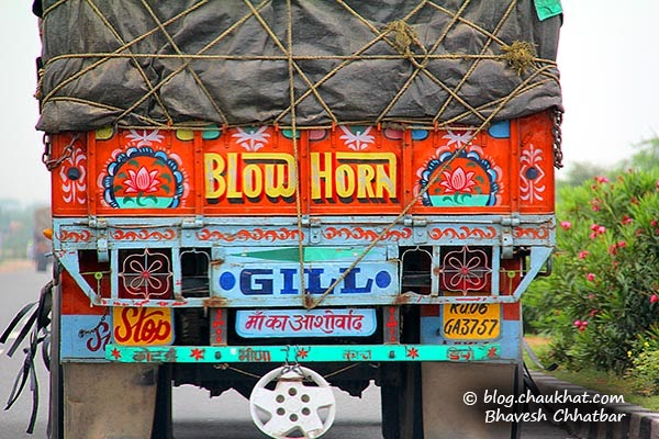 Truck slogans in India -