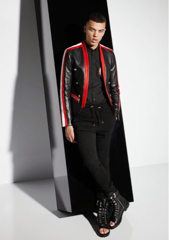 Men Fashion Balmain SS 14 - Leather Jacket