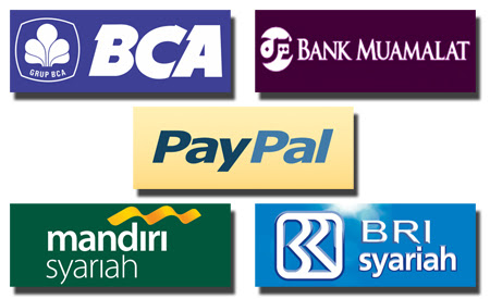 Warung Fiksi accepts Paypal and these banks