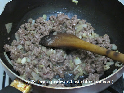 Resep Martabak Tahu, Daging Cincang JTT