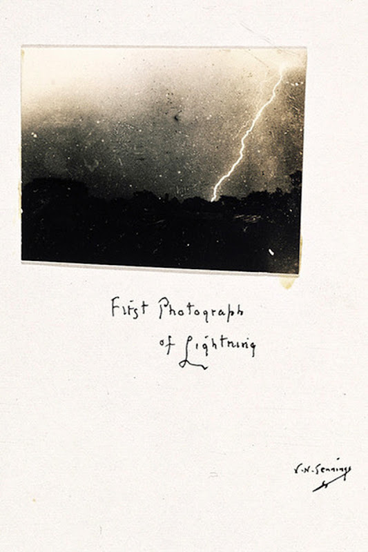 First Photograph of Lightning by William N. Jennings