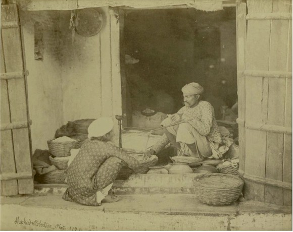 Man Selling Various Products in a Shop - Delhi Circa 1862