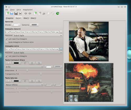 KoverArtist 0.7.3 su Kubuntu