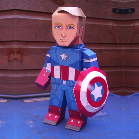 Captain America Papercraft Avengers 2012