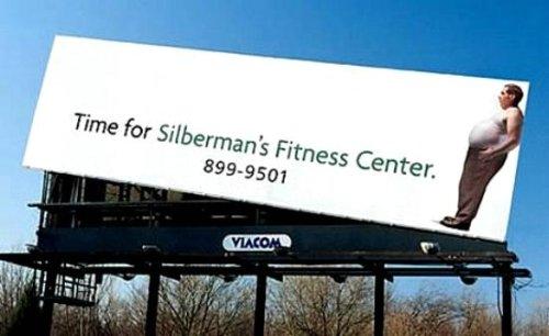 funny fitness bill board