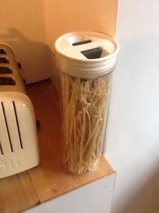 Jar of pasta
