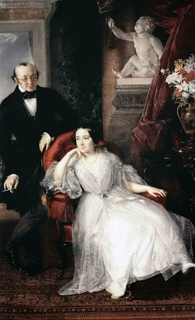 Vasily Tropinin - Portrait of Nikolai Ivanovich and Nadezhda Mikhailovna