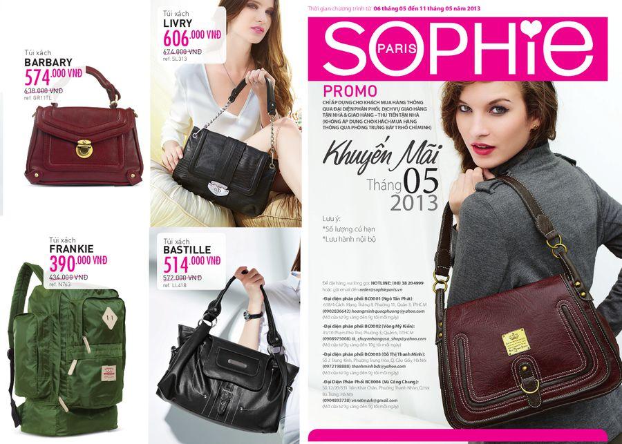 Sophie Paris khuyến mại tháng 5/2013