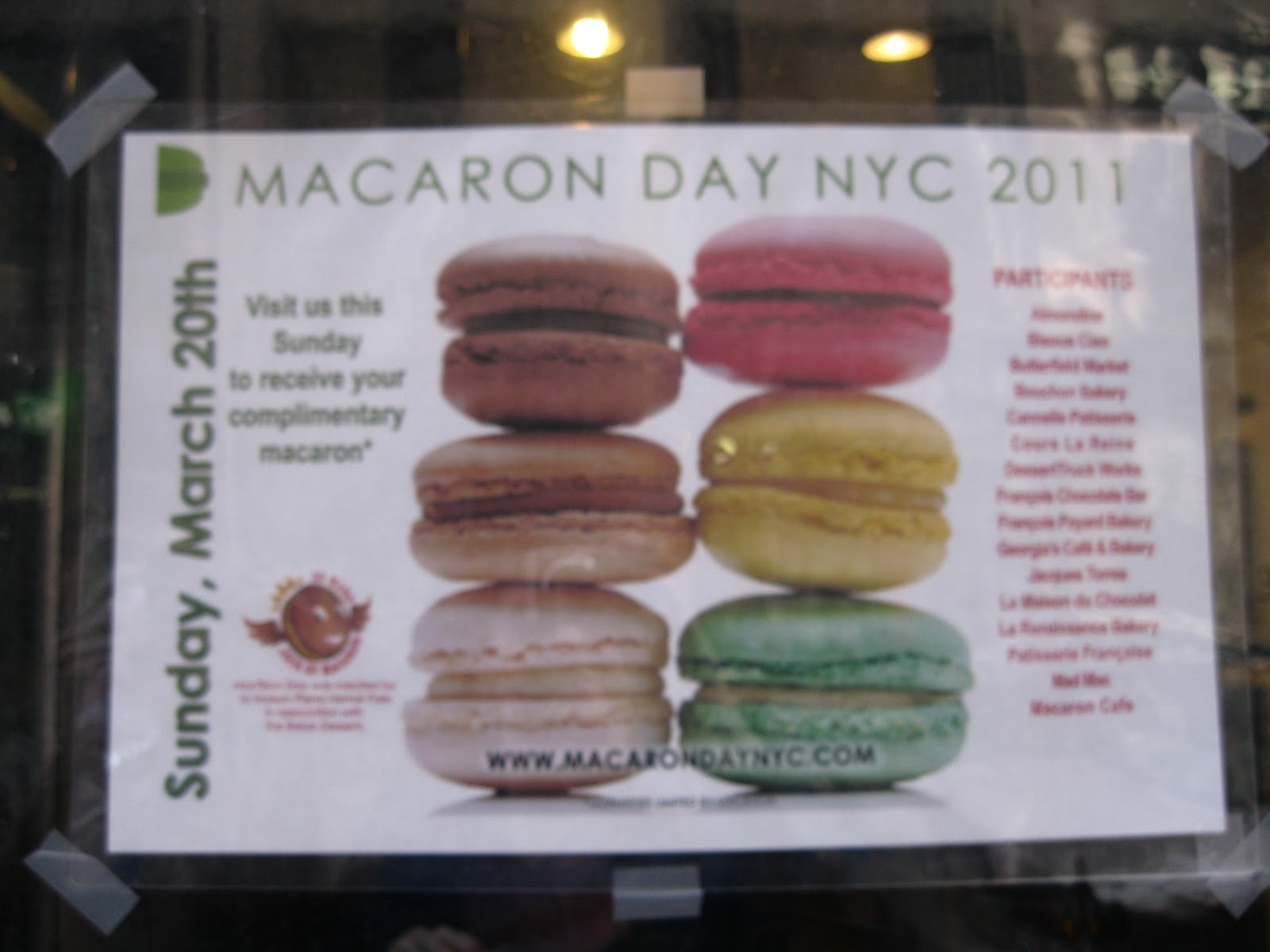 Macaron Day 2011 Macaron Day Signs Each Stop