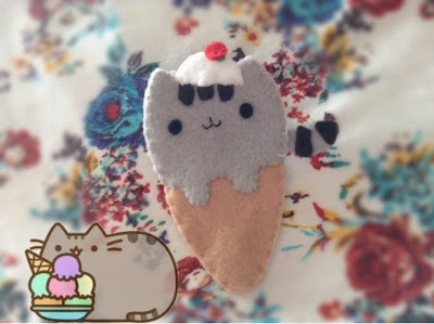 Pusheen Ice Cream Bookmark