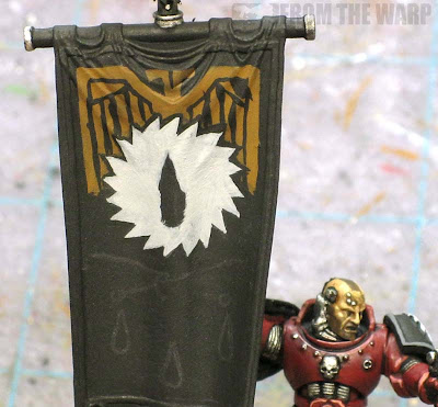 Painting a space marine banner