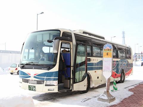 沿岸バス「留萌旭川線」快速便 ・709 旭川駅前にて