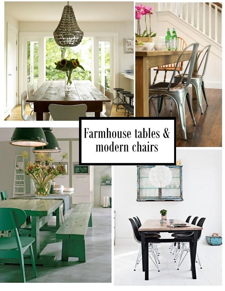Pinecone Farmhouse Table Modern Chairs
