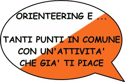 Orienteering e...     Tanti punti in comune con un'attività che già ti piace