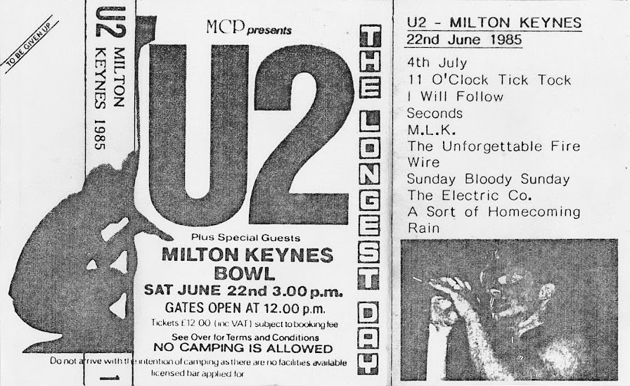 U2 - Milton Keynes Bowl, 22 June 1985 - Guitars101 - Guitar Forums