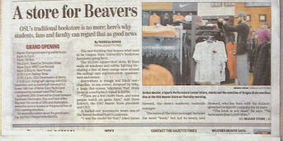 Newspaper article on new store for Beavers