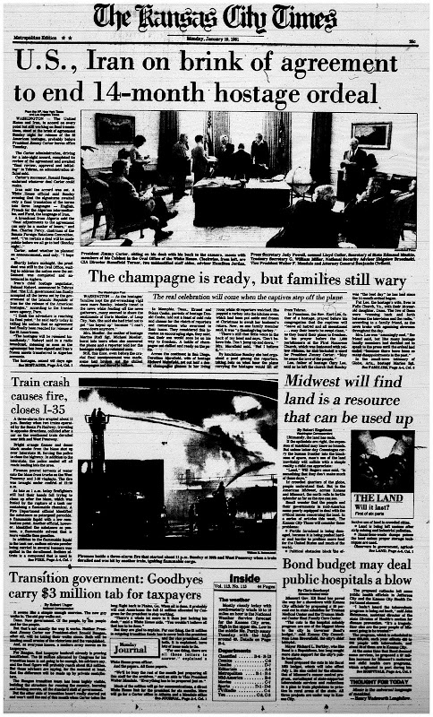 Old Newspapers: The End of the Iran Hostage Crisis in Headlines