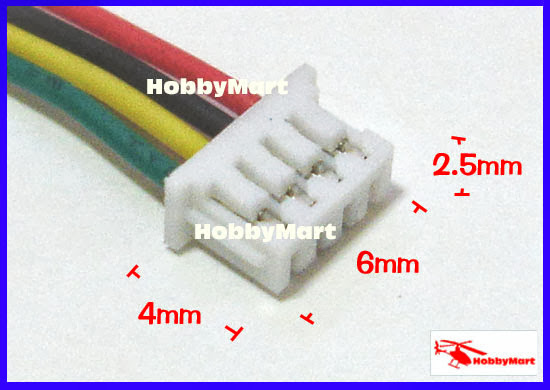 Mini Micro 1 25mm T 1 4 Pin Jst Connector With Wire X 10 Sets