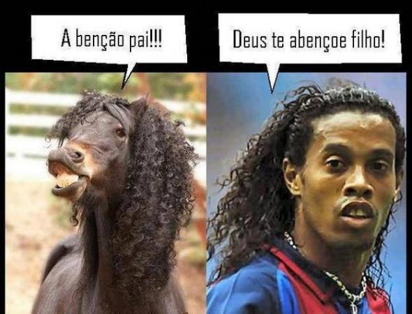 Separados à nascença? Ronaldinho Gaúcho vs. Cavalinho com crina