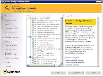 Instalar Symantec Backup Exec 2010 R3 en Windows Server 2008