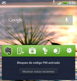 Widget de Evernote - Android