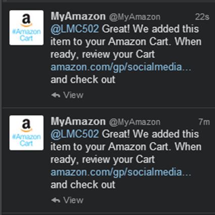 Twitter Confirmations #AmazonCart #cbias