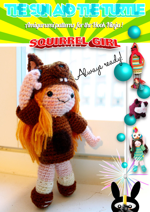 Amigurumi Squirrel girl, assembly guide.