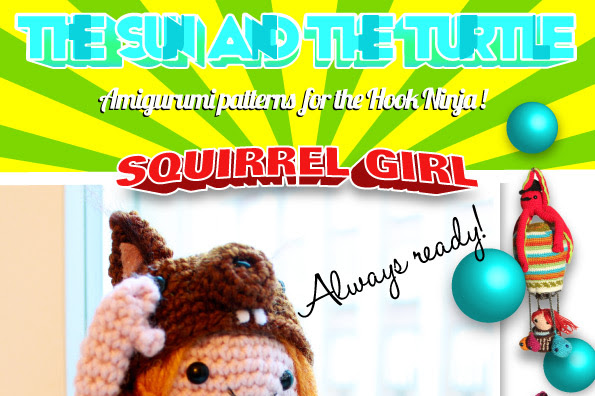 Amigurumi Squirrel Girl a crochet pattern  by The Sun and the Turtle.