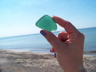 Plaża widoczki relaks Panorama LeSage Anna Grabowska Darłowo Lubię Darłowo szkło szlifowane przez morze Darłówko