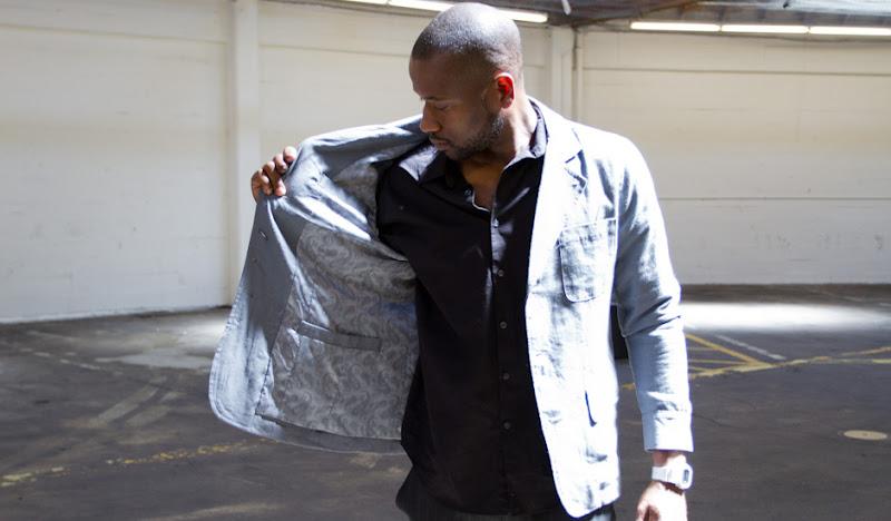 Michael Reverses Linen Jacket