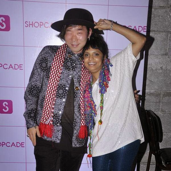 Little Shilpa poses with a guest during the launch party of Shopcade, a social online application for fashion, held at White Owl, on July 10, 2014.(Pic: Viral Bhayani)