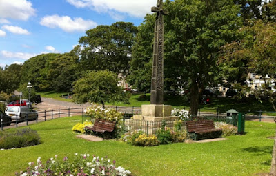 The Village Green in Rothbury bursts with colour in Summer