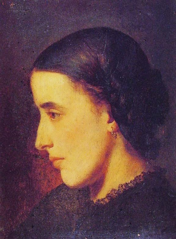 Jean-Paul Laurens - Portrait of Madeleine Villemsens