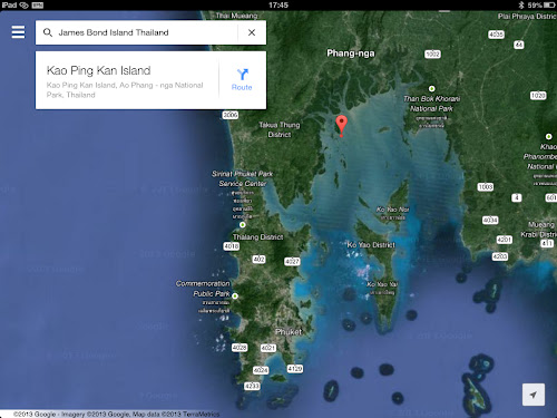 Map of James Bond Island in Phang Nga Bay