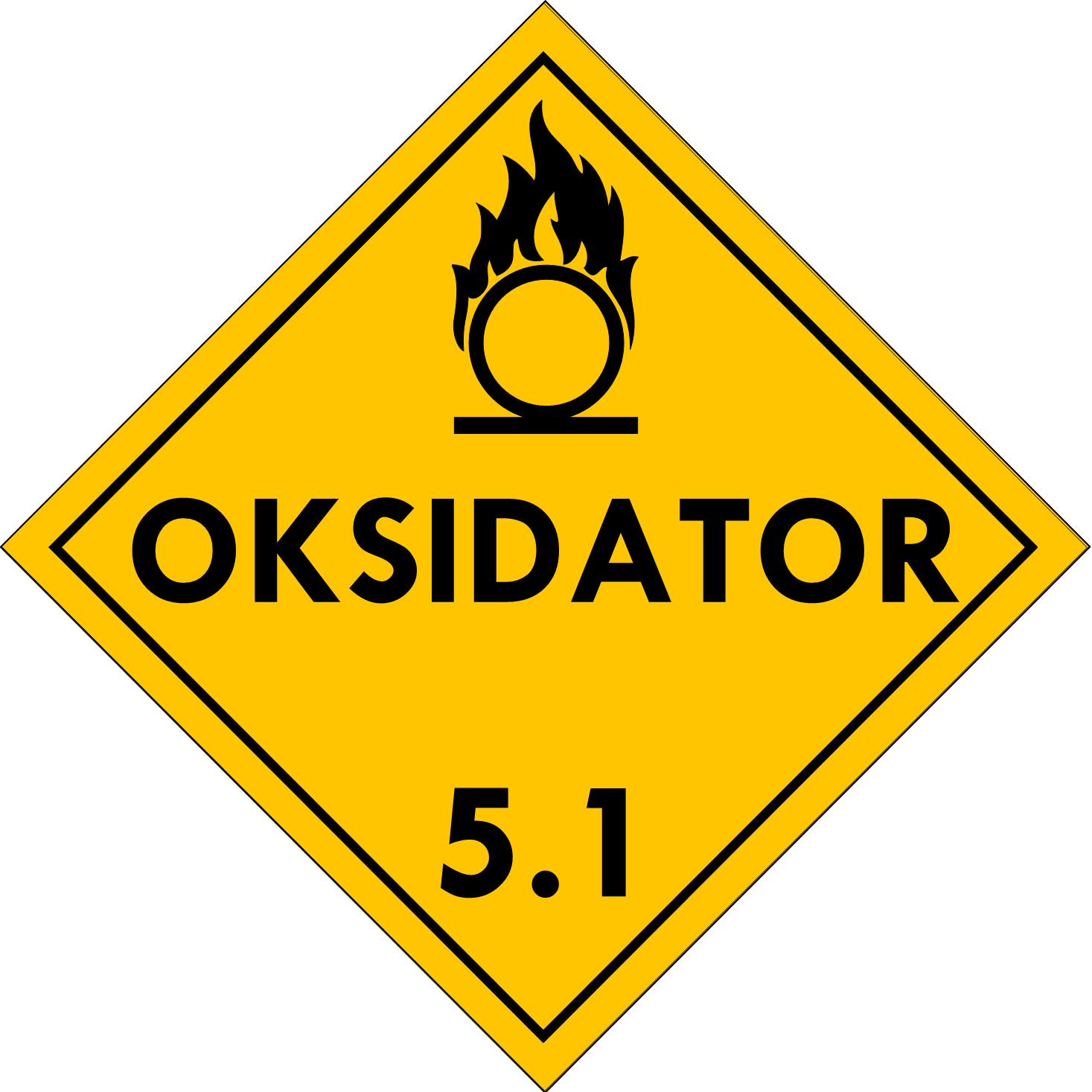 Label (Simbol) Transportasi Bahan (Material) Oksidator 5.1