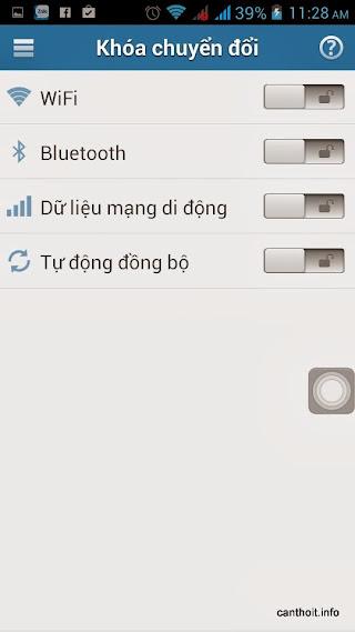 Applock - Giao diện thiết lập khóa kết nối