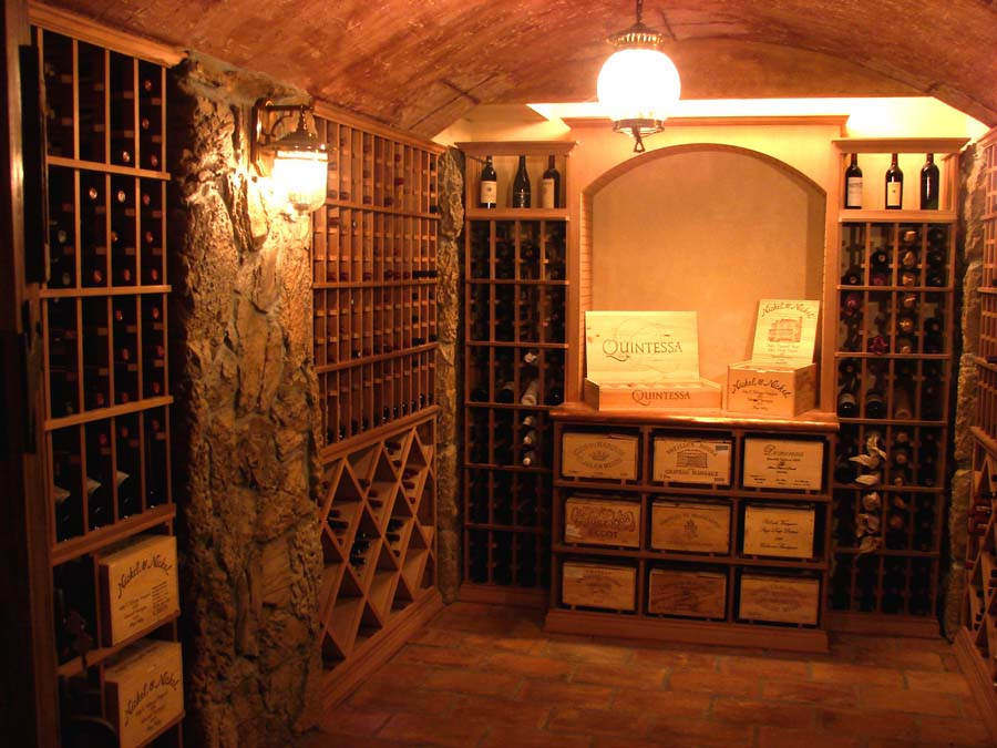 Stellar wine cellars uncork the possibilities modern for Wine cellar in house