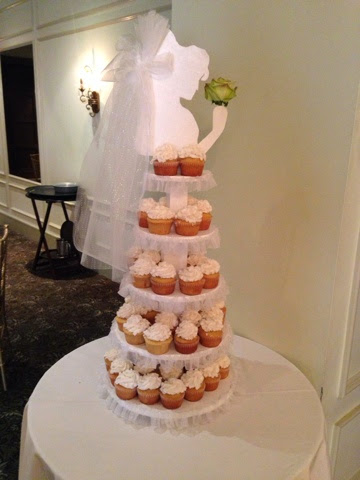 bridal cupcake stand