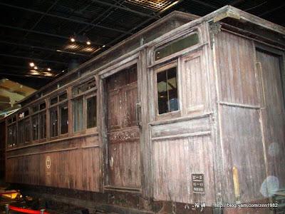 7100式蒸汽機關車,1880製造。北海道最早的火車,也被稱為弁慶號。